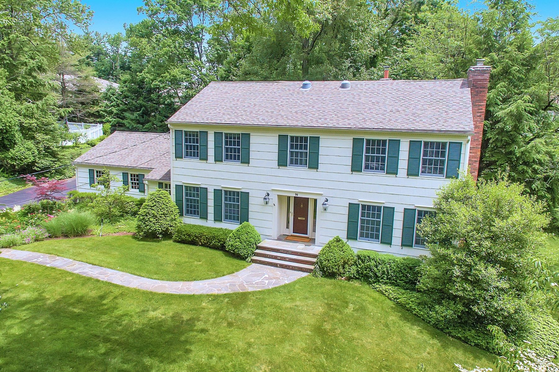 Single Family Homes for Sale at Wonderfully Spacious 96 Old Hollow Road Millburn, New Jersey 07078 United States