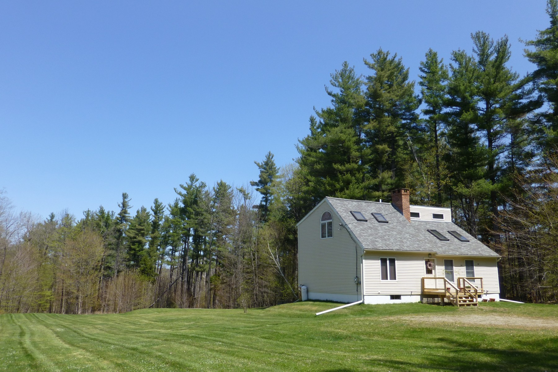 single family homes for Sale at Sunny Contemporary on Over 10 Acres 19 Toby Hill Rd Newfane, Vermont 05351 United States