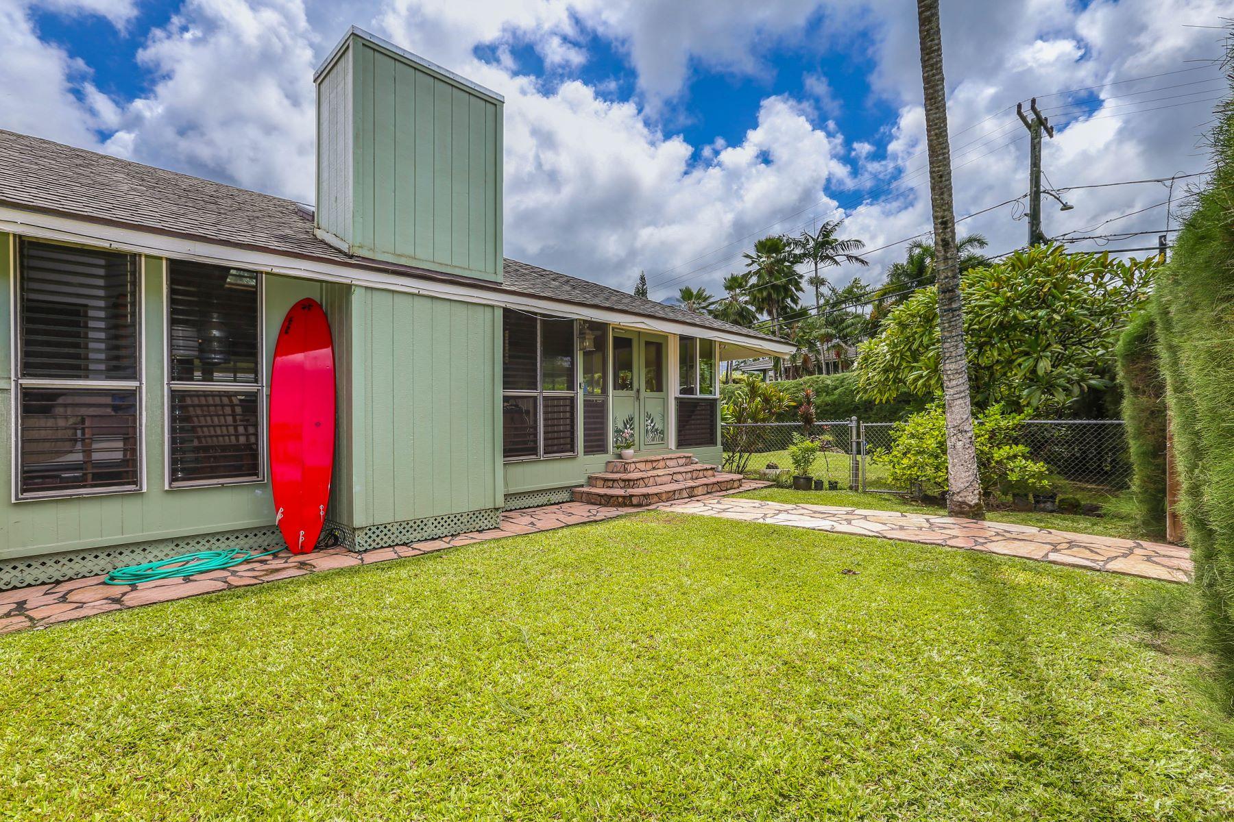 Single Family Homes 용 매매 에 445 Aku Rd. 4445 Aku Road, Hanalei, 하와이 96714 미국