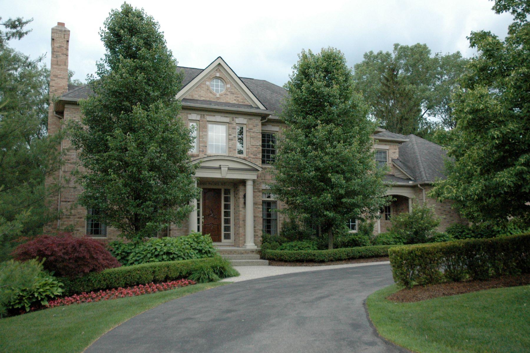 Maison unifamiliale pour l Vente à Bloonfield 860 Palms Bloomfield, Michigan, 48304 États-Unis