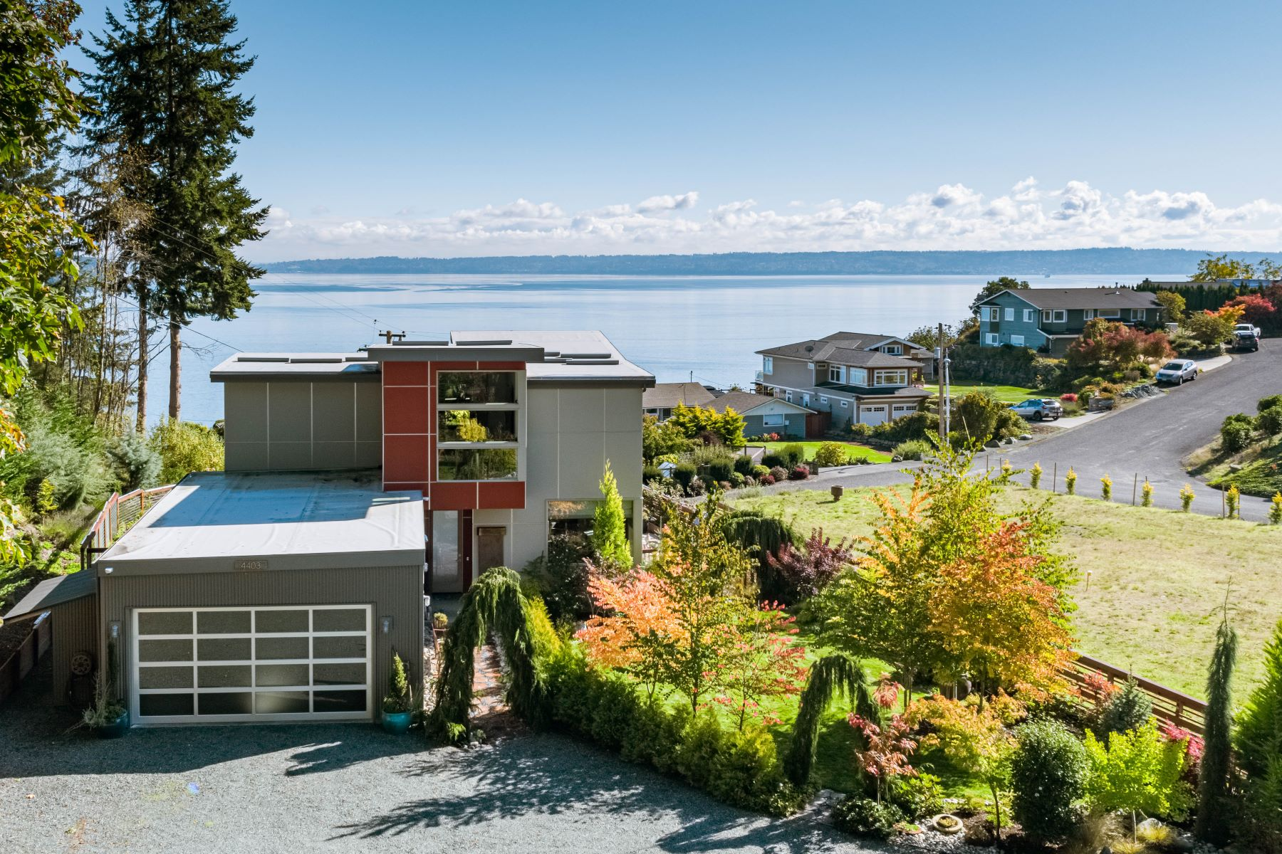 Single Family Homes for Sale at Whidbey Island Contemporary 4403 Witter Road Langley, Washington 98260 United States