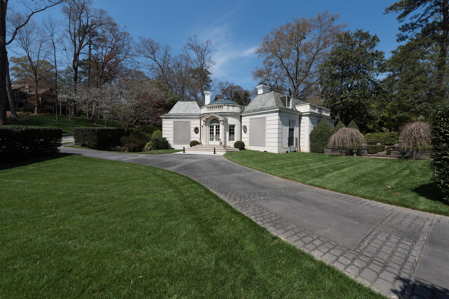"獨棟家庭住宅 為 出售 在 Magnificent French ""Jewelbox"" House 2590 Rivers Road NW Buckhead, Atlanta, 喬治亞州, 30305 美國"