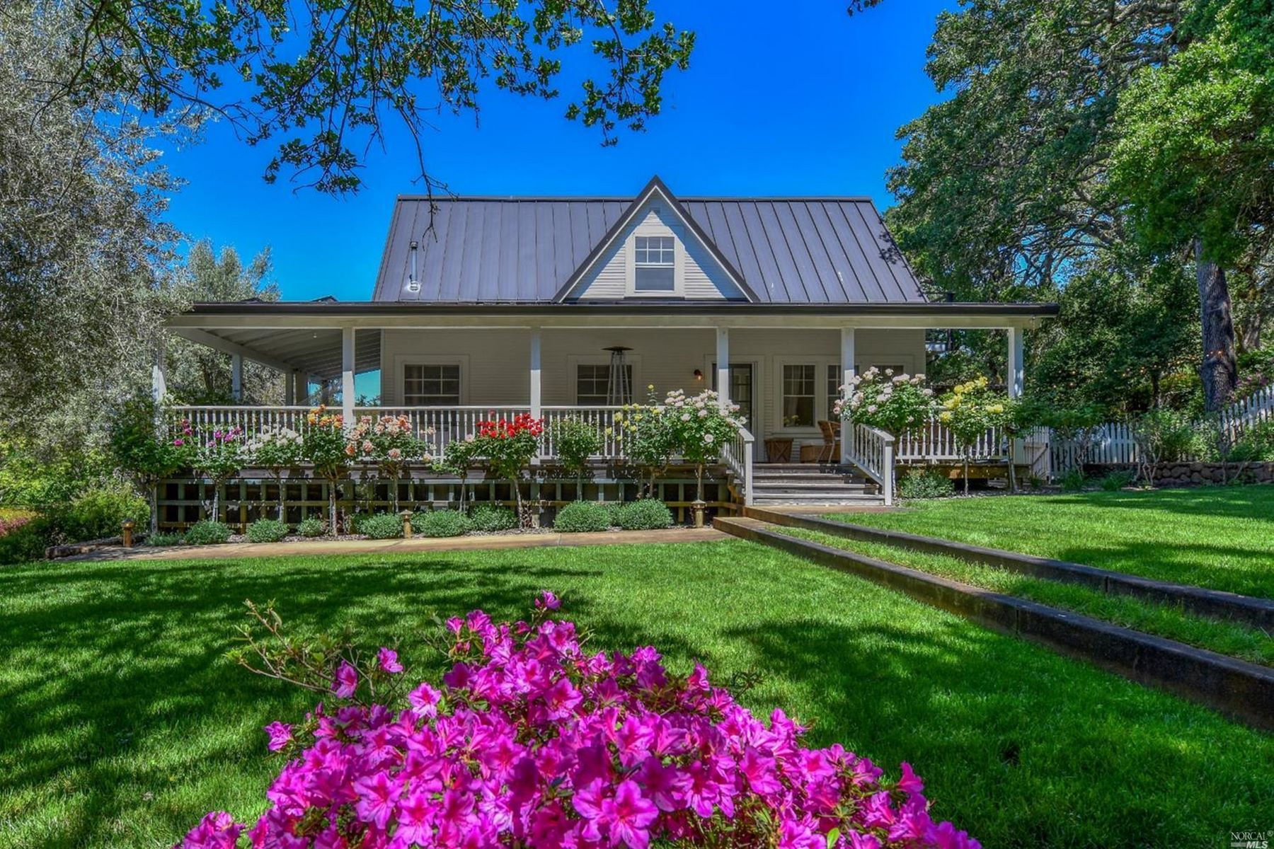 Single Family Homes for Active at Quintessential Modern Farmhouse Estate 5160 Wild Horse Valley Road Napa, California 94558 United States