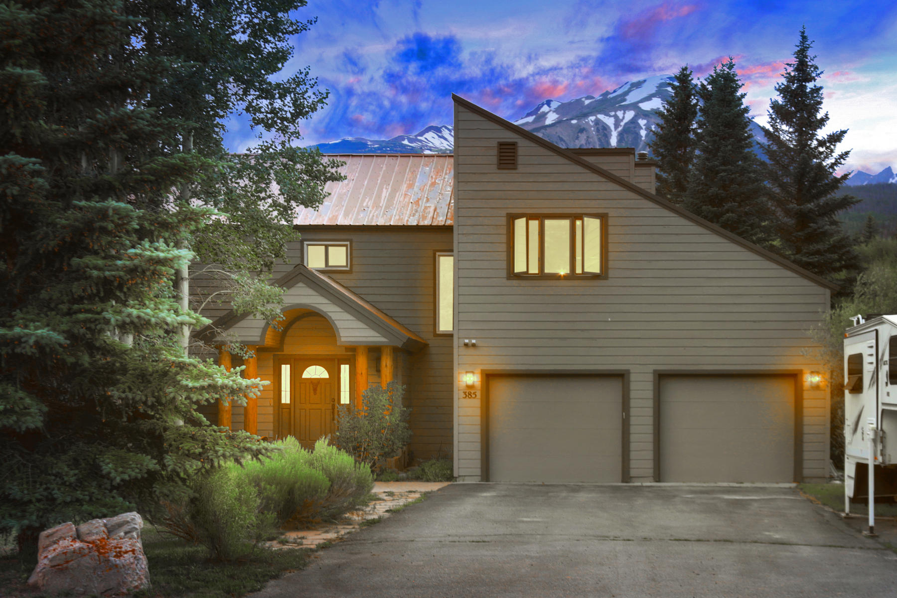 Single Family Homes for Sale at 125 Ft of Blue River Access in Your Backyard 385 Riverside Drive, Silverthorne, Colorado 80498 United States
