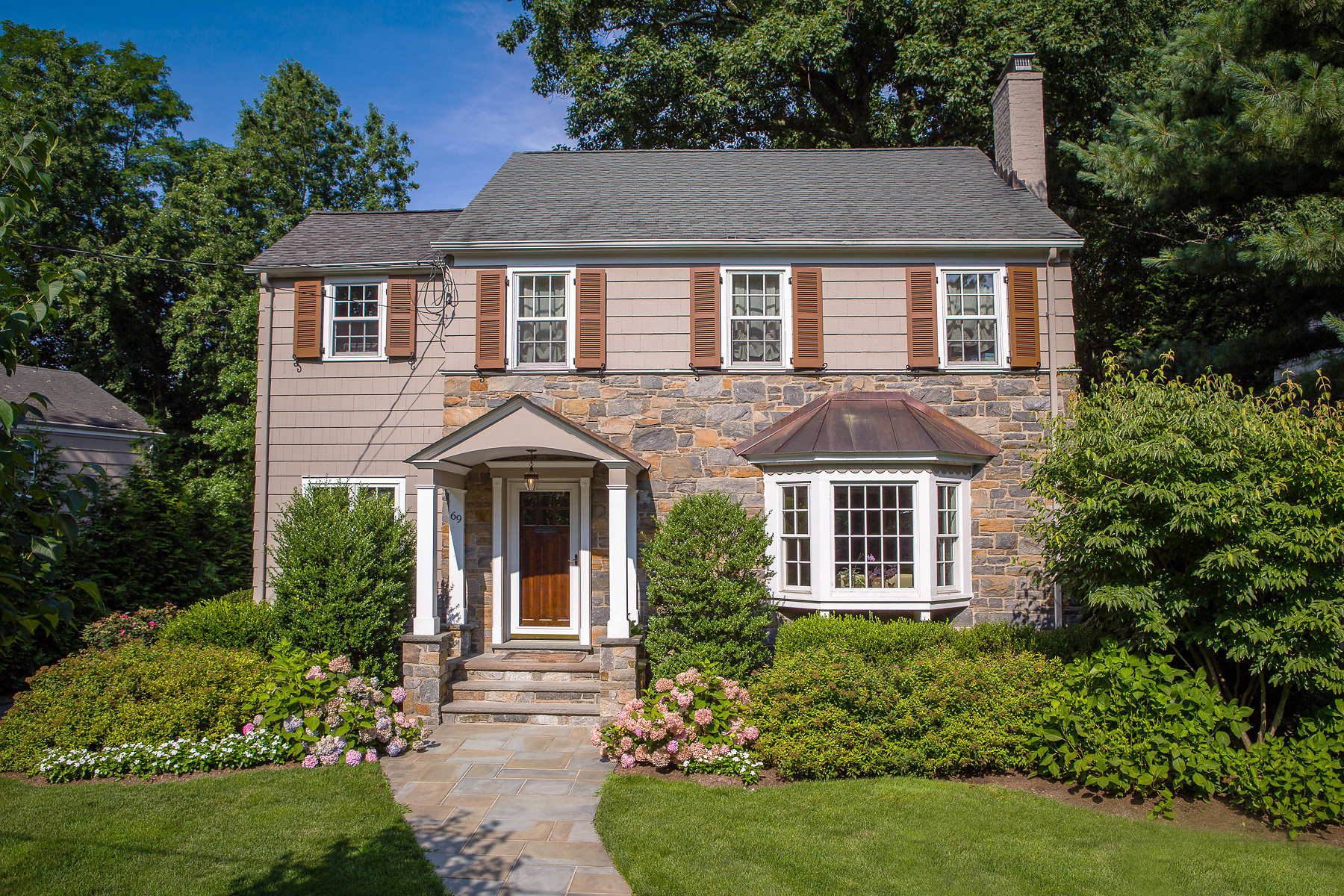 Single Family Home for Sale at Charming stone colonial at the end of the most desirable quiet cul-de-sac. 69 Stony Lane, Short Hills, New Jersey, 07078 United States