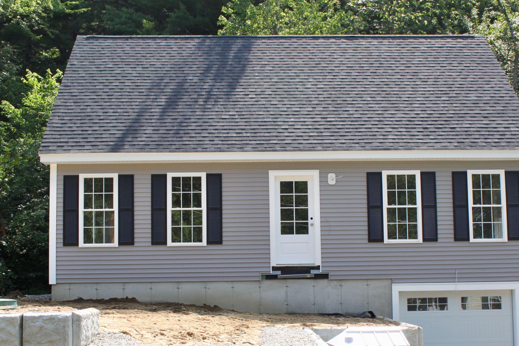 Single Family Homes for Sale at New Construction - Custom Built Cape 54 Maple Parkway Lunenburg, Massachusetts 01462 United States