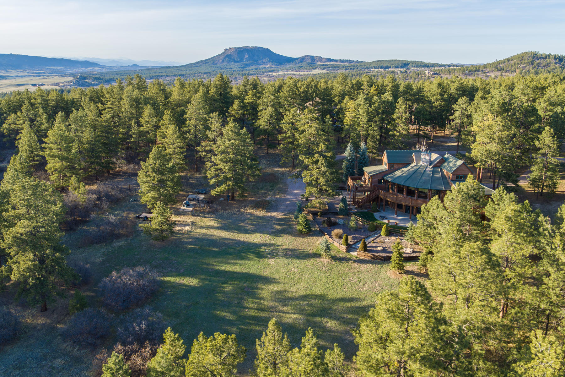 Single Family Home for Active at Luxury Log Home for those who appreciate Colorado's natural setting and beauty. 1960 Poncha Ct Larkspur, Colorado 80118 United States