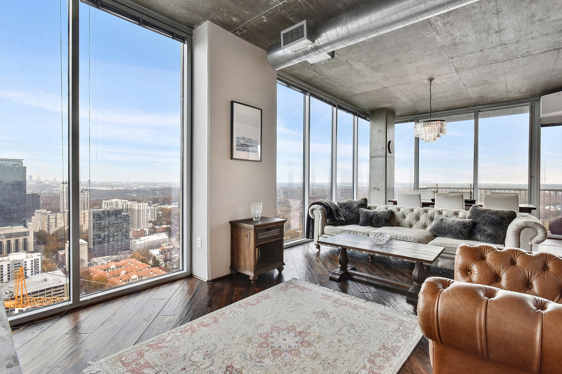 Condominium for Rent at Over-sized One Bedroom Corner Unit With Skyline Views! 855 Peachtree Street NE #3312 Atlanta, Georgia 30308 United States