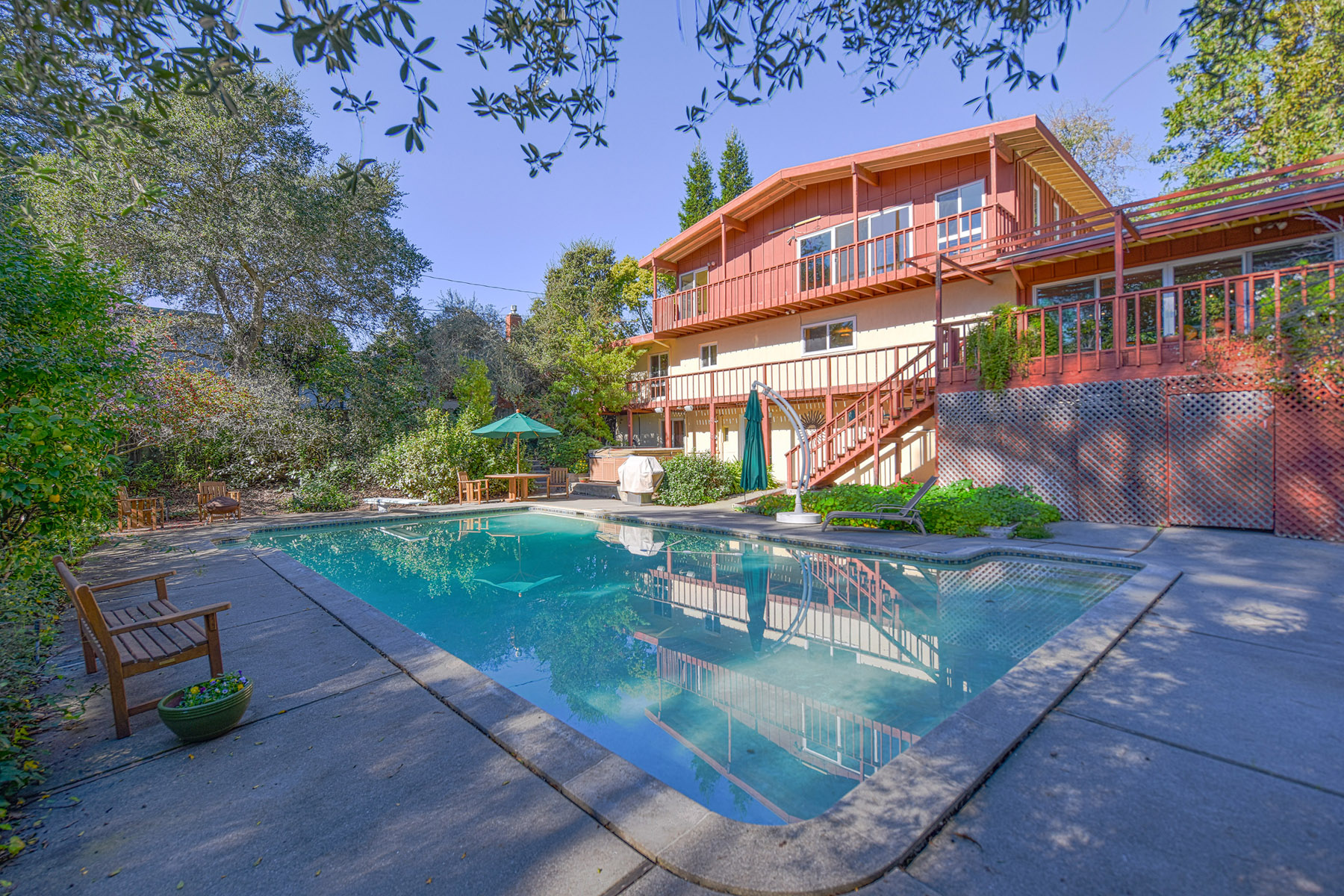 Single Family Home for Sale at Mid-Century Modern Design in a Stunning Setting 365 Montecito Boulevard, Napa, California, 94559 United States