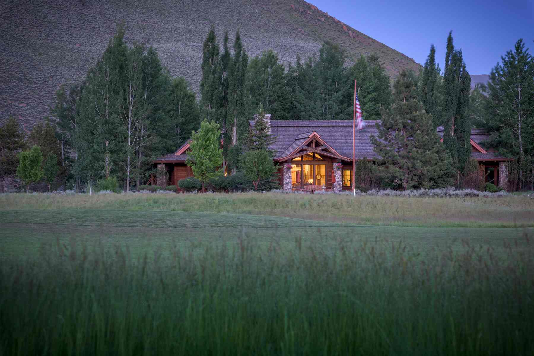 Single Family Homes for Sale at Luxury on Fairway Five 35 Copper Creek Road Hailey, Idaho 83333 United States