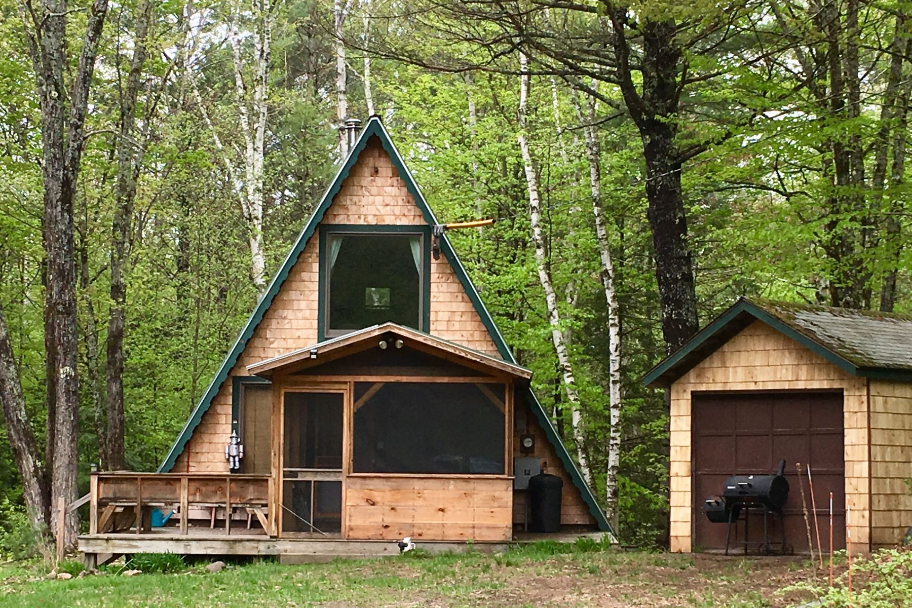 single family homes for Sale at Two Bedroom A-Frame in Tunbridge on 10 Acres 49 Ward Hill Rd Tunbridge, Vermont 05077 United States