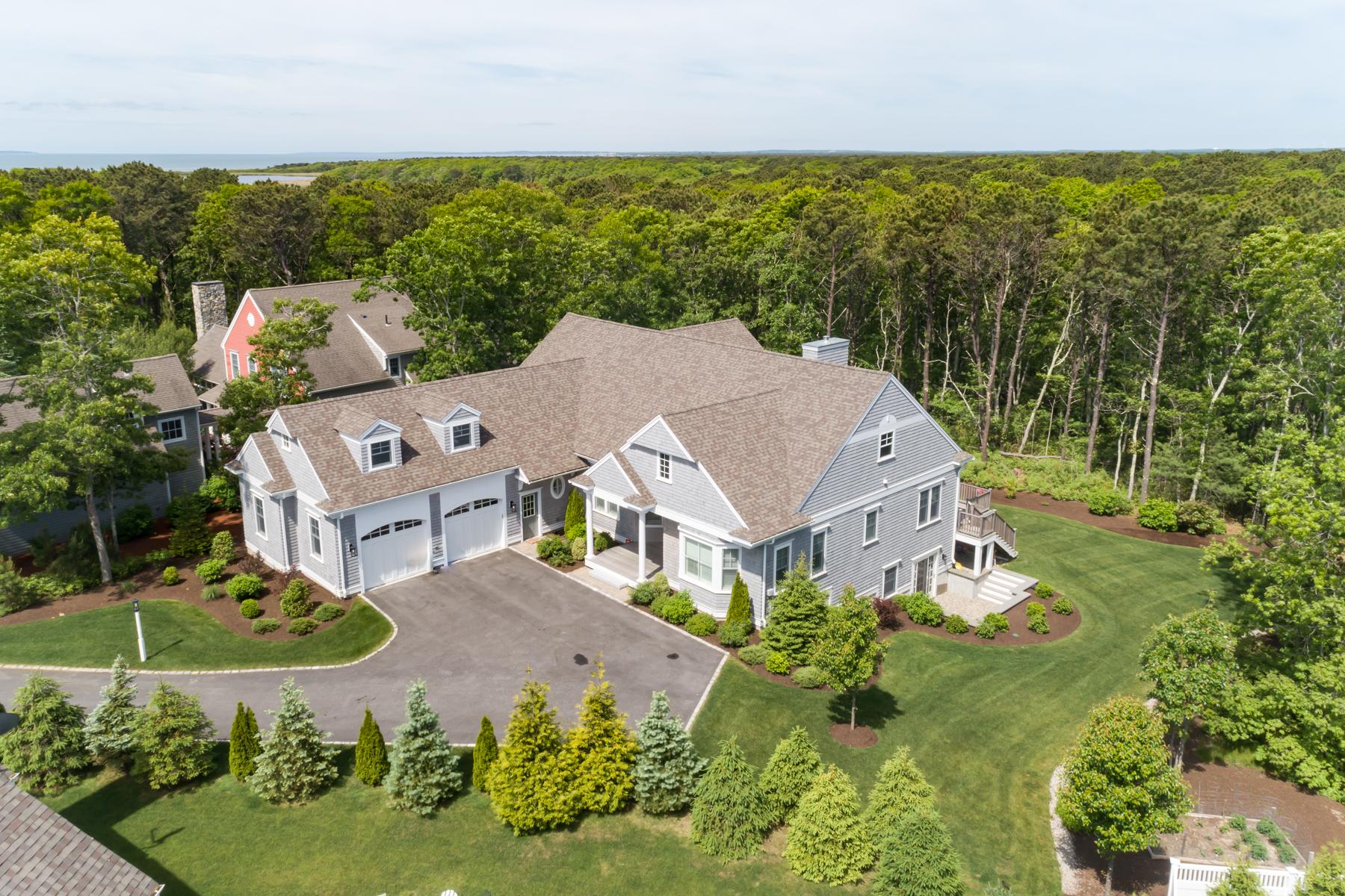 Single Family Homes por un Venta en PRESERVE AT FLAT POND CONTEMPORARY 29 Flat Pond Circle New Seabury, Massachusetts 02649 Estados Unidos