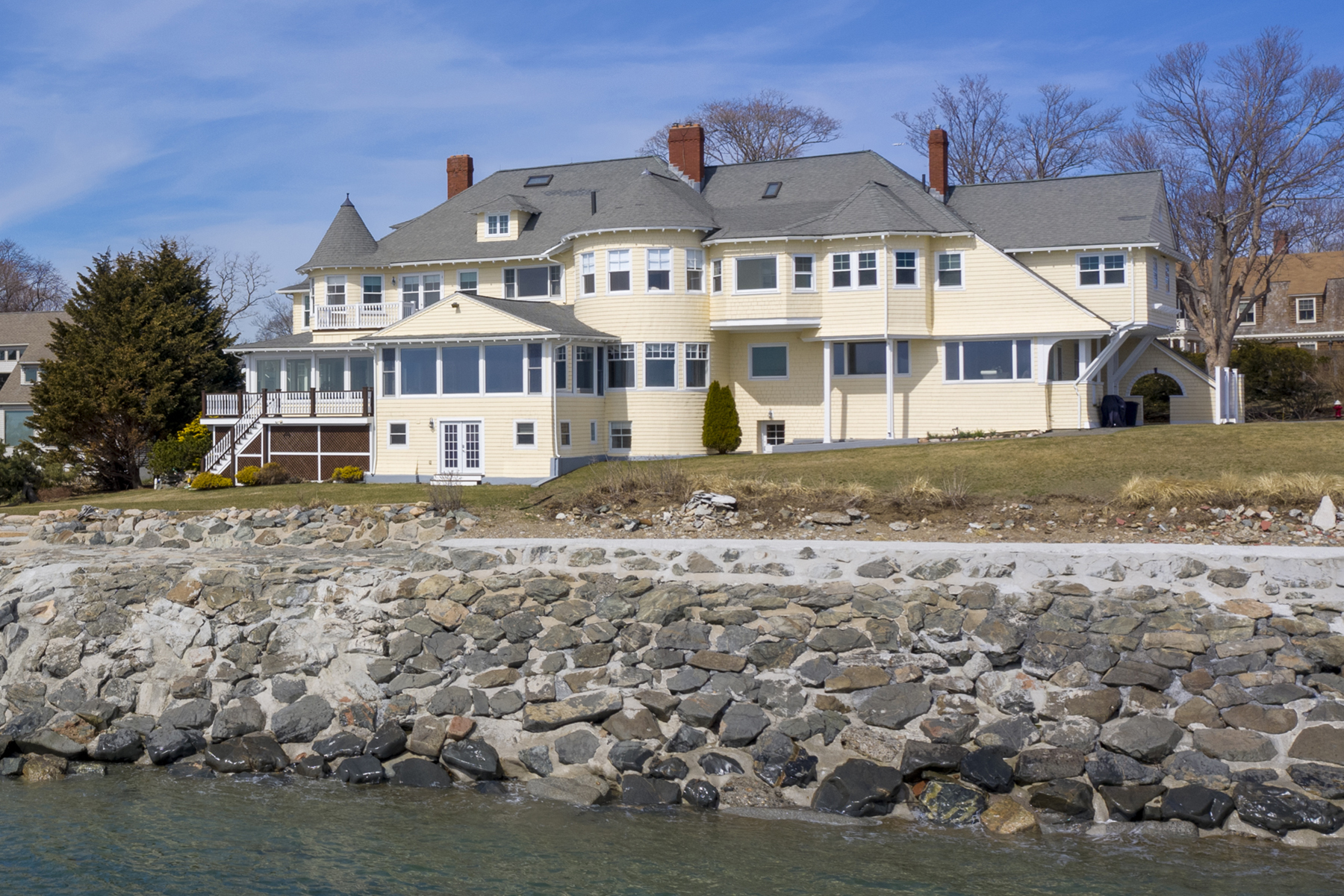 Single Family Homes for Sale at Stunning oceanfront masterpiece 22 Northstone Road Swampscott, Massachusetts 01907 United States