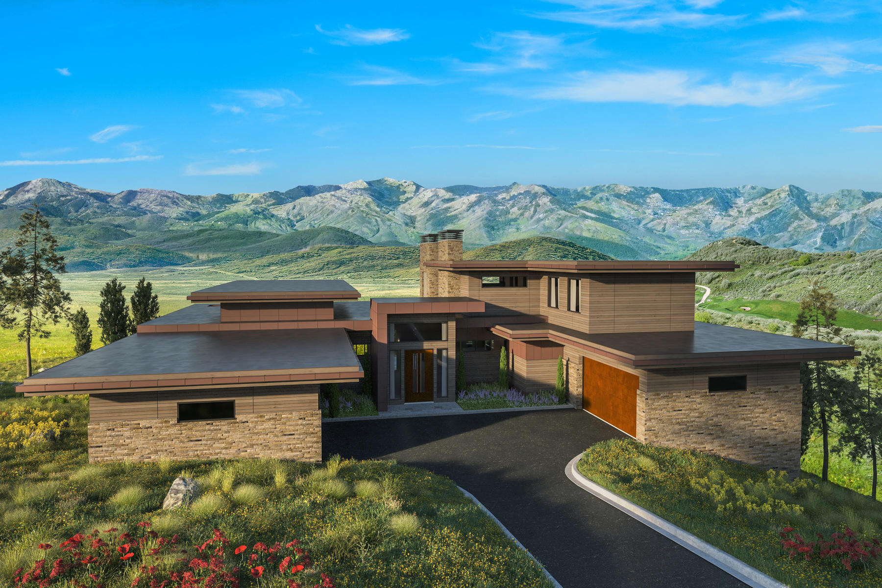 Single Family Homes for Sale at Bradford Model In Pinnacle At Promontory 3718 Wapiti Canyon Rd, Park City, Utah 84098 United States