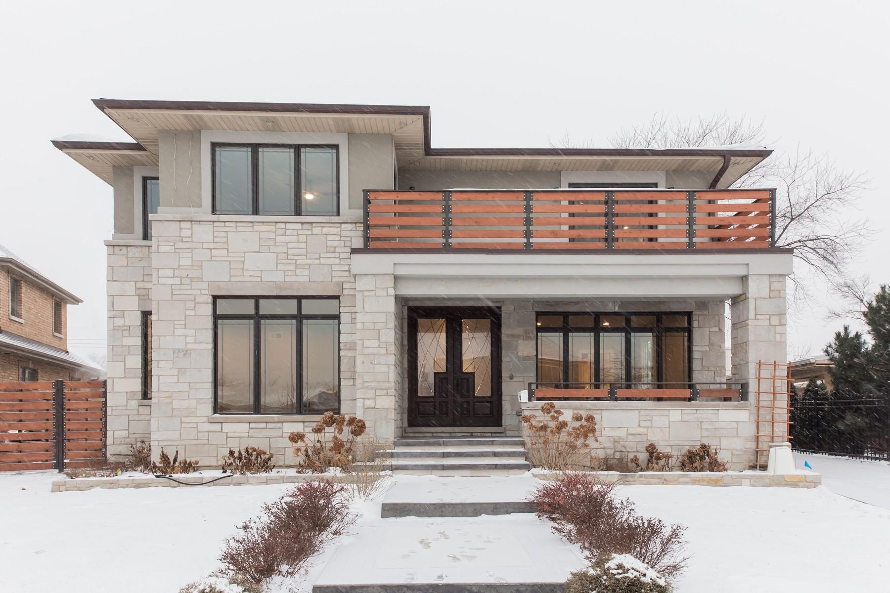 Maison unifamiliale pour l Vente à Spectacular New Construction Home 8052 W Giddings Street, Norridge, Illinois, 60706 États-Unis
