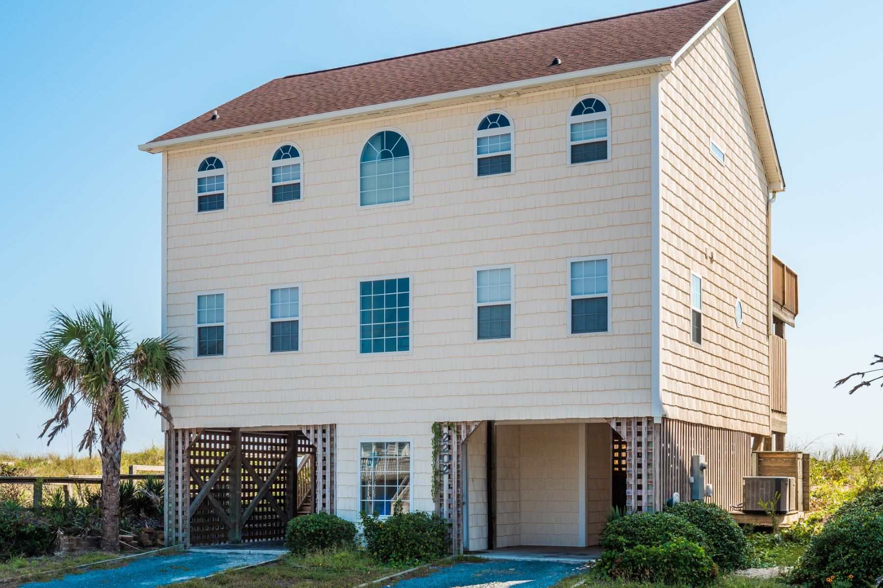 Single Family Homes for Sale at Oceanfront Living on Shore Drive 2202 S Shore Dr. Surf City, North Carolina 28445 United States