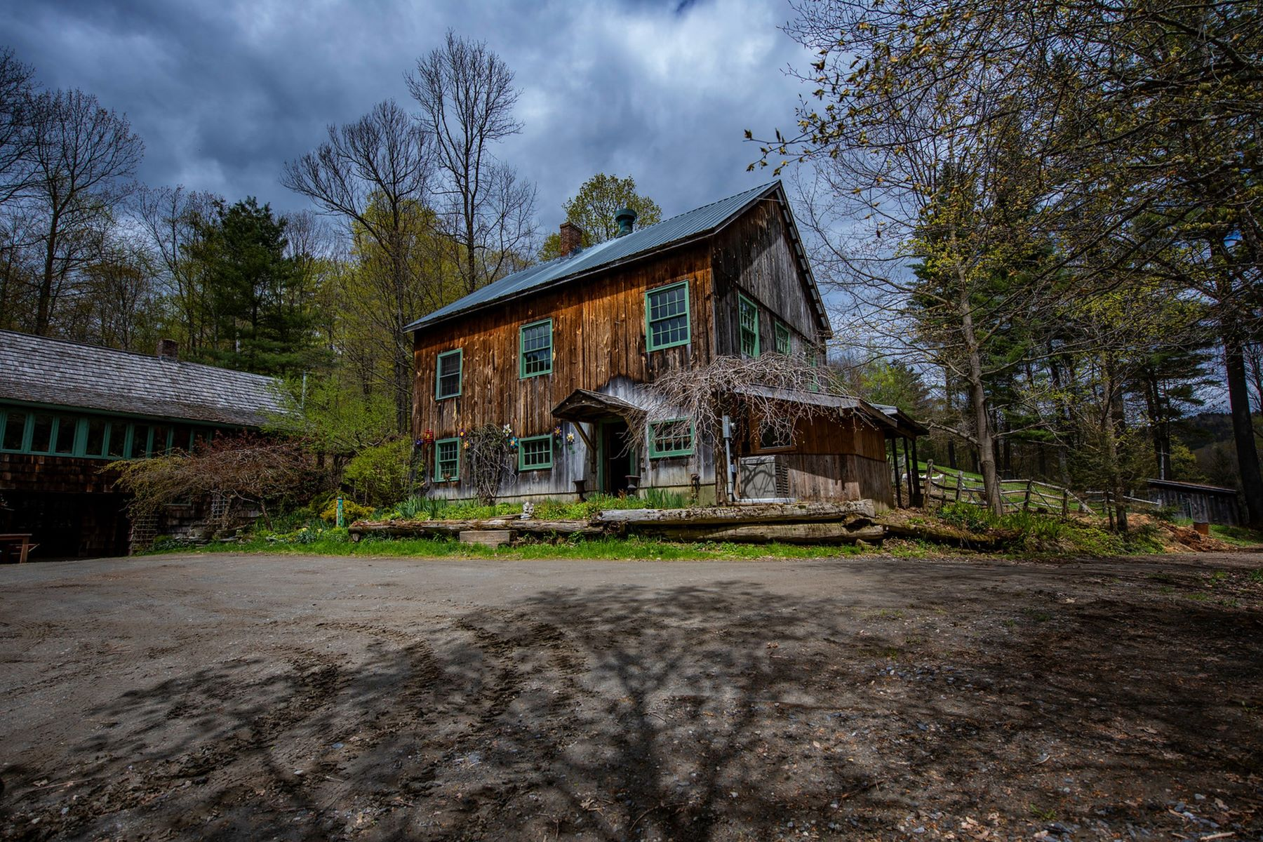 single family homes for Sale at Three Bedroom Log home on 37 Acres in Sharon 2230 Quimby Mountain Rd Sharon, Vermont 05065 United States