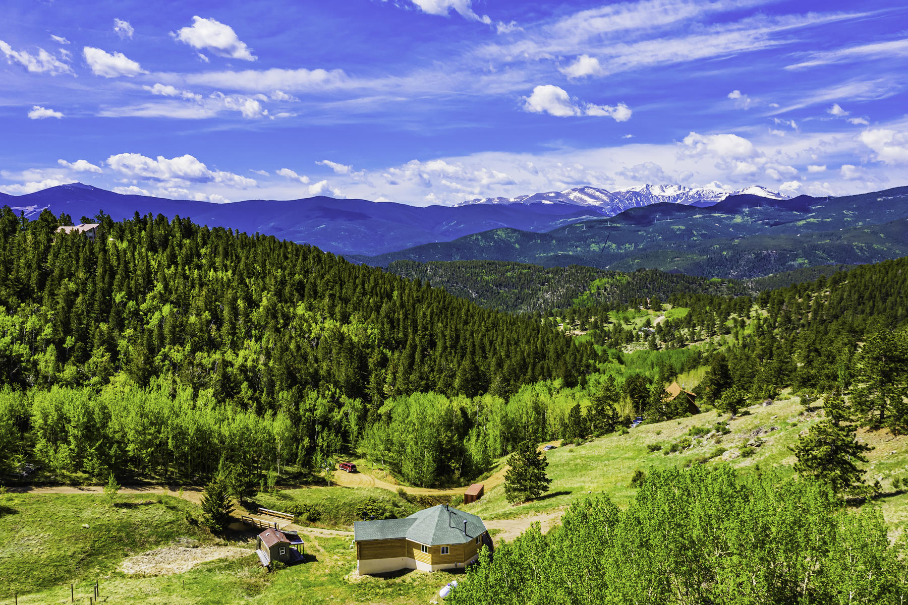 Single Family Homes for Sale at Off the grid, Away from it all, and Out of this World Views! 481 Red Tail Ridge Road Idaho Springs, Colorado 80452 United States