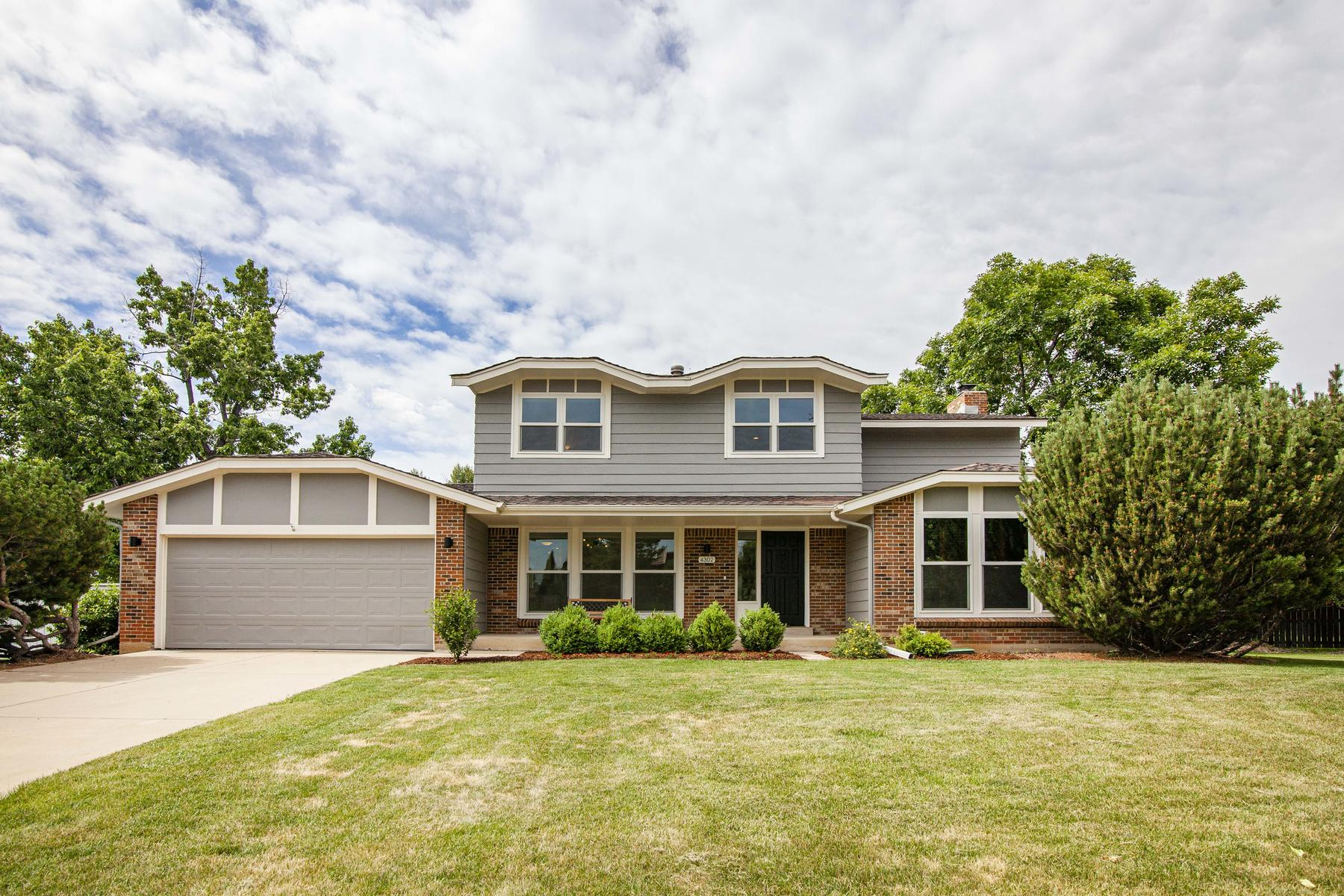 Single Family Homes for Sale at Beautiful And Spacious Remodeled Orange Orchard Gem 4302 Apple Wy, Boulder, Colorado 80301 United States