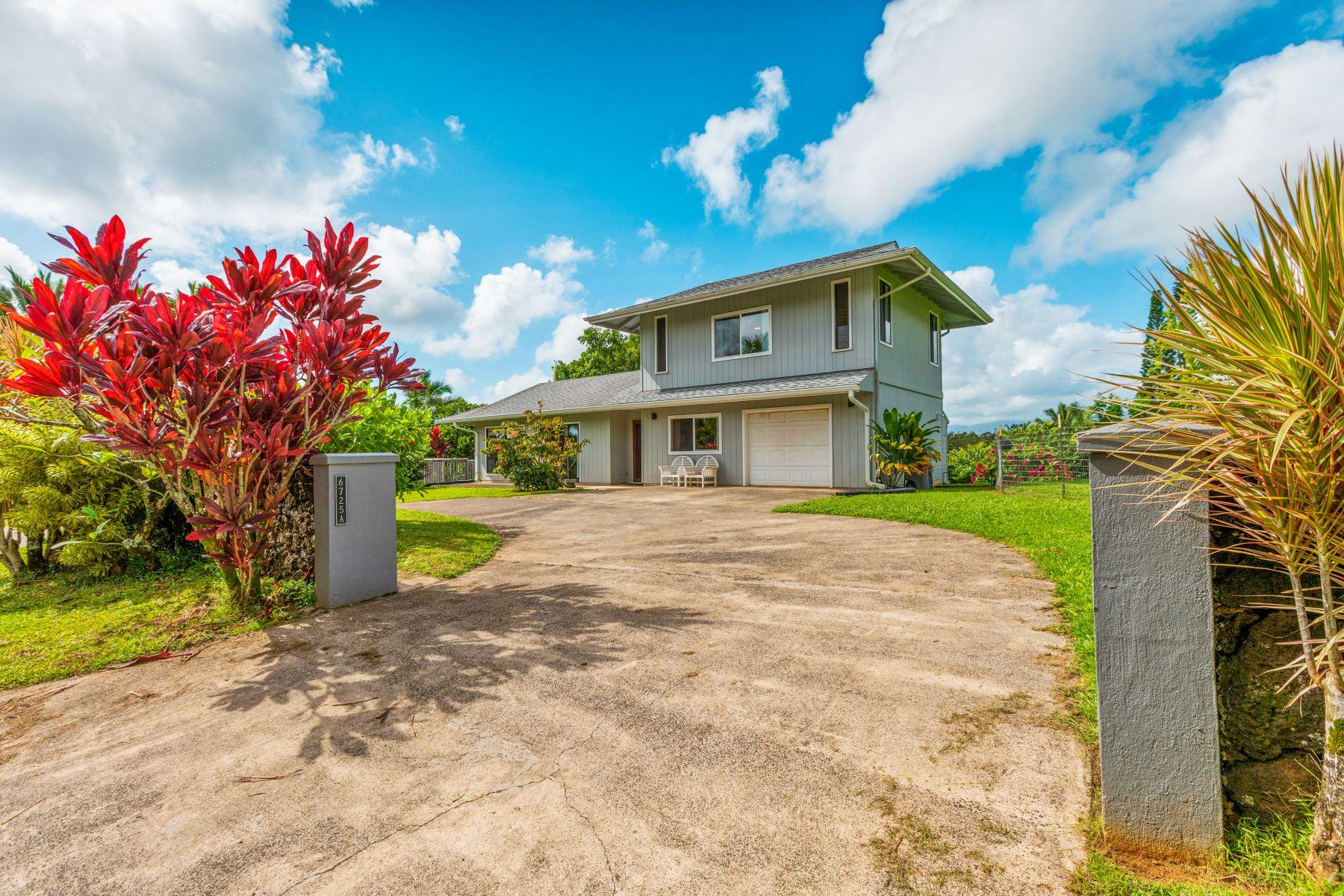 Other Residential Homes 용 매매 에 6725 Olohena Road #A Kapaa HI Kapaa, 하와이 96746 미국