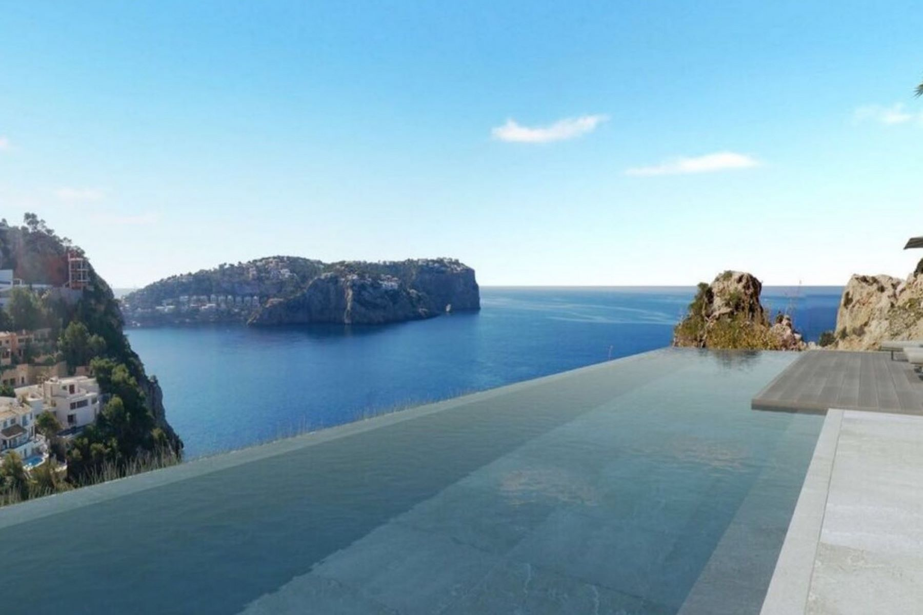 Single Family Home for Sale at New luxury house on sea front cliff for sale Port Andratx, Mallorca, Spain