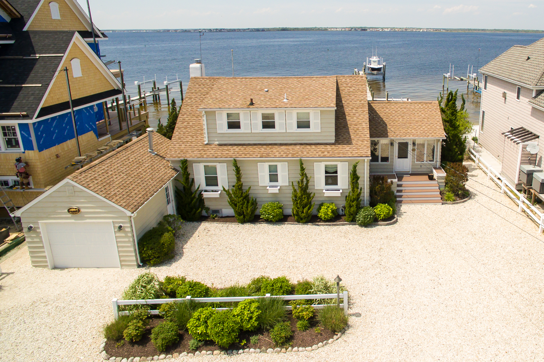 Single Family Home for Sale at Recently Updated Cape-Style Bayfront Home 519 Normandy Drive Normandy Beach, New Jersey 08739 United States