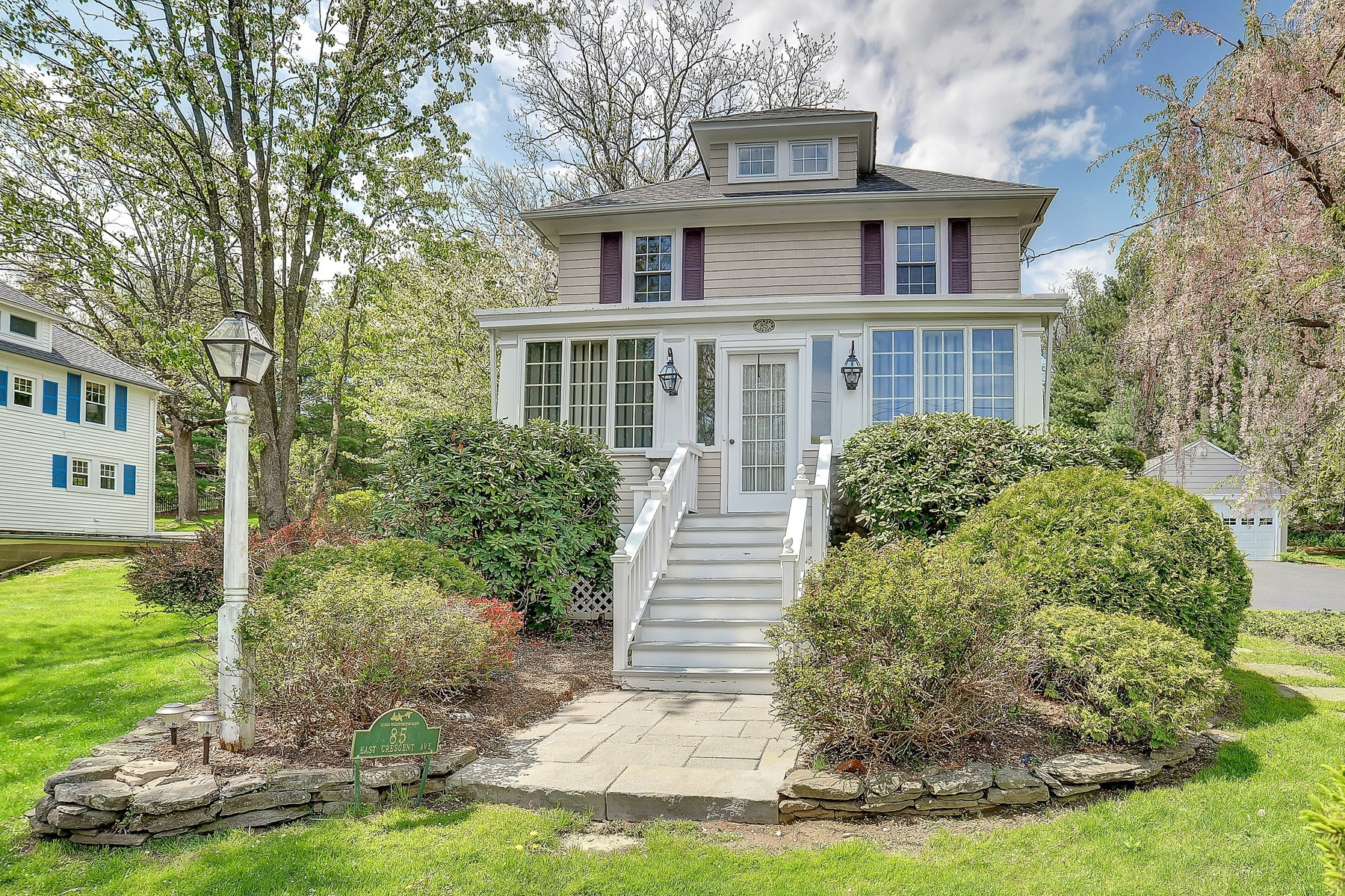 Single Family Homes for Sale at Welcome To This Move In Four Bedroom Colonial. 85 East Crescent Avenue Ramsey, New Jersey 07446 United States