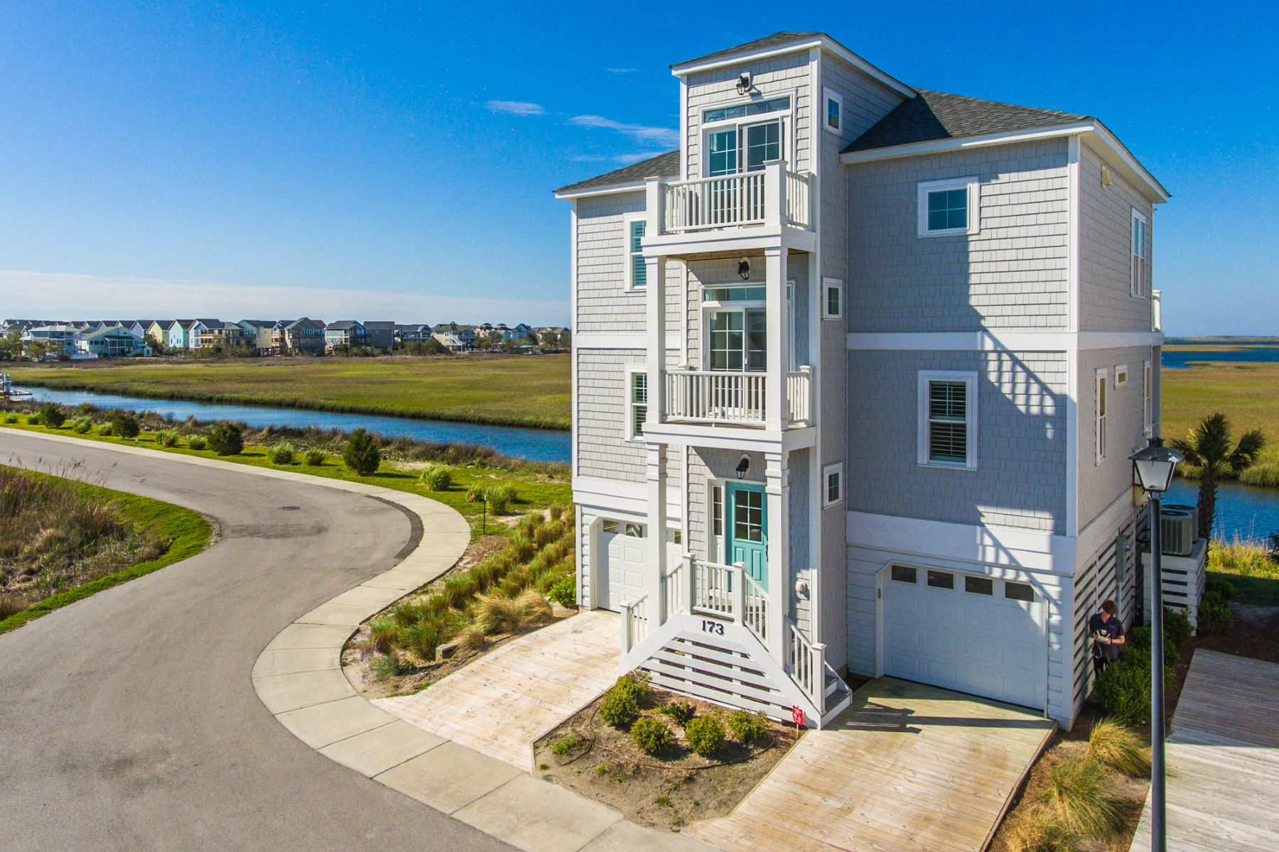 Single Family Home for Active at Contemporary Canal-Front Home on Topsail Island 173 Atkinson Rd Surf City, North Carolina 28445 United States