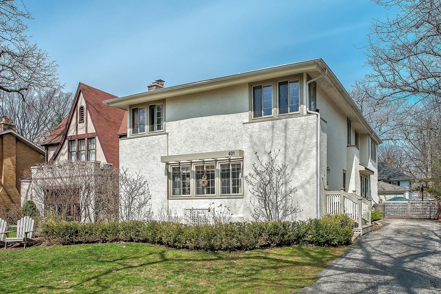 一戸建て のために 売買 アット Classic Prairie Style Home 401 Woodlawn Avenue Glencoe, イリノイ, 60022 アメリカ合衆国