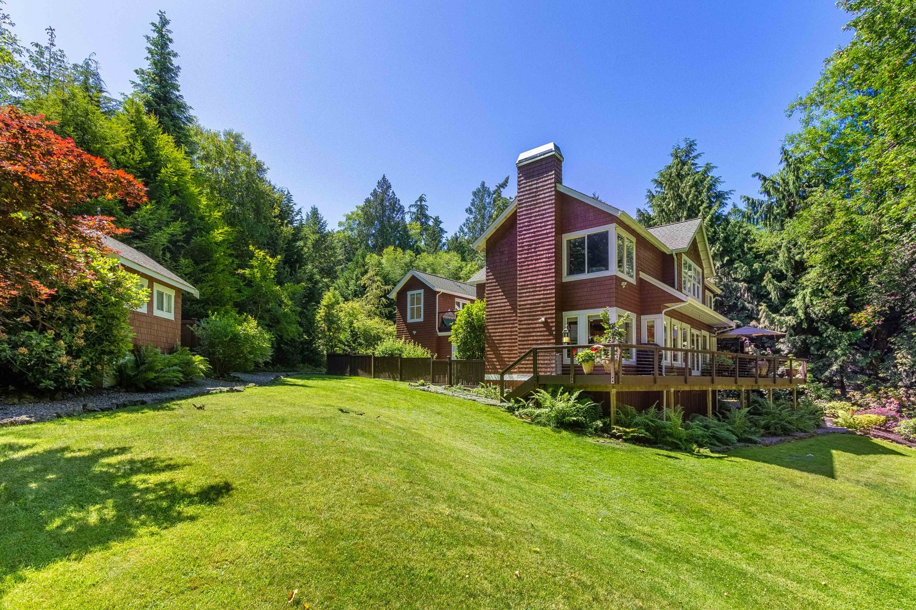 Single Family Home for Sale at Classic Northwest Style 8392 Sumanee Place NE Bainbridge Island, Washington 98110 United States