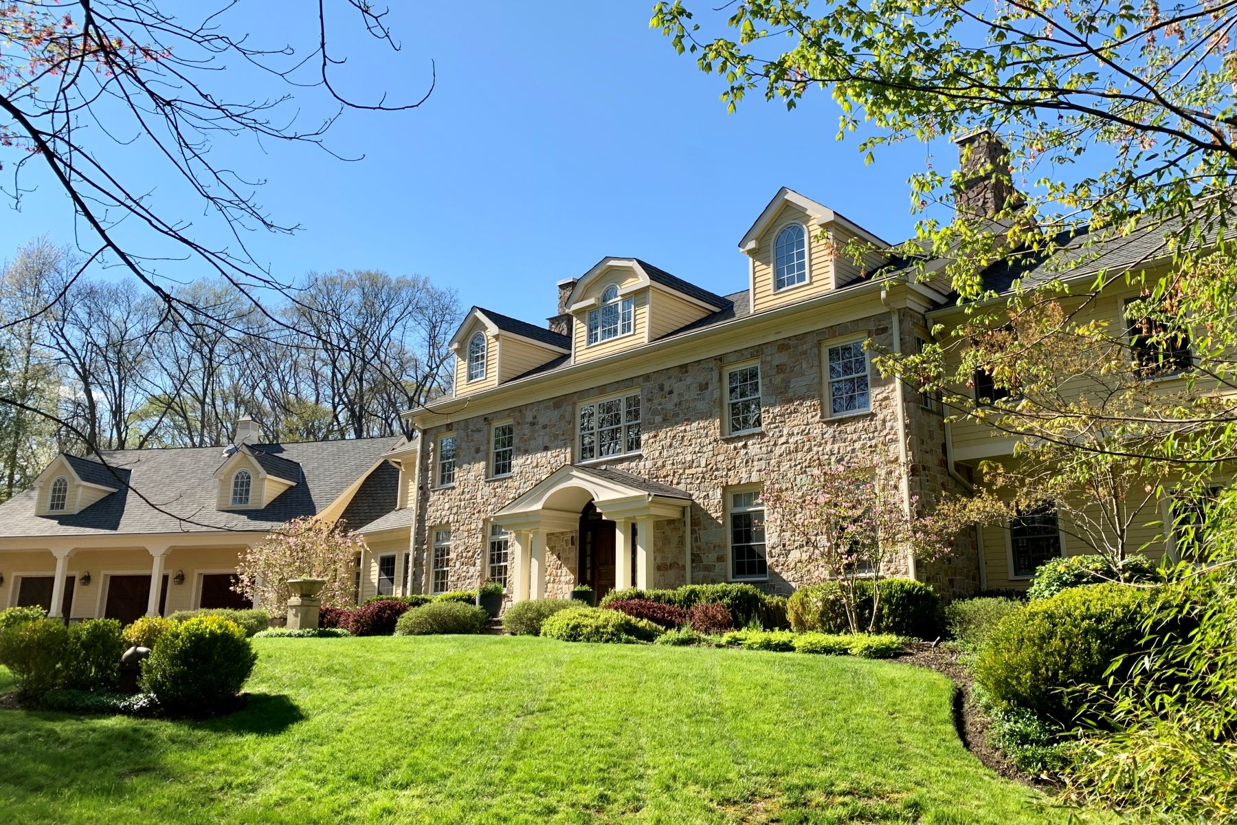 Single Family Homes for Sale at Stunning Stone Manor 34 Woodland Road Harding Township, New Jersey 07976 United States