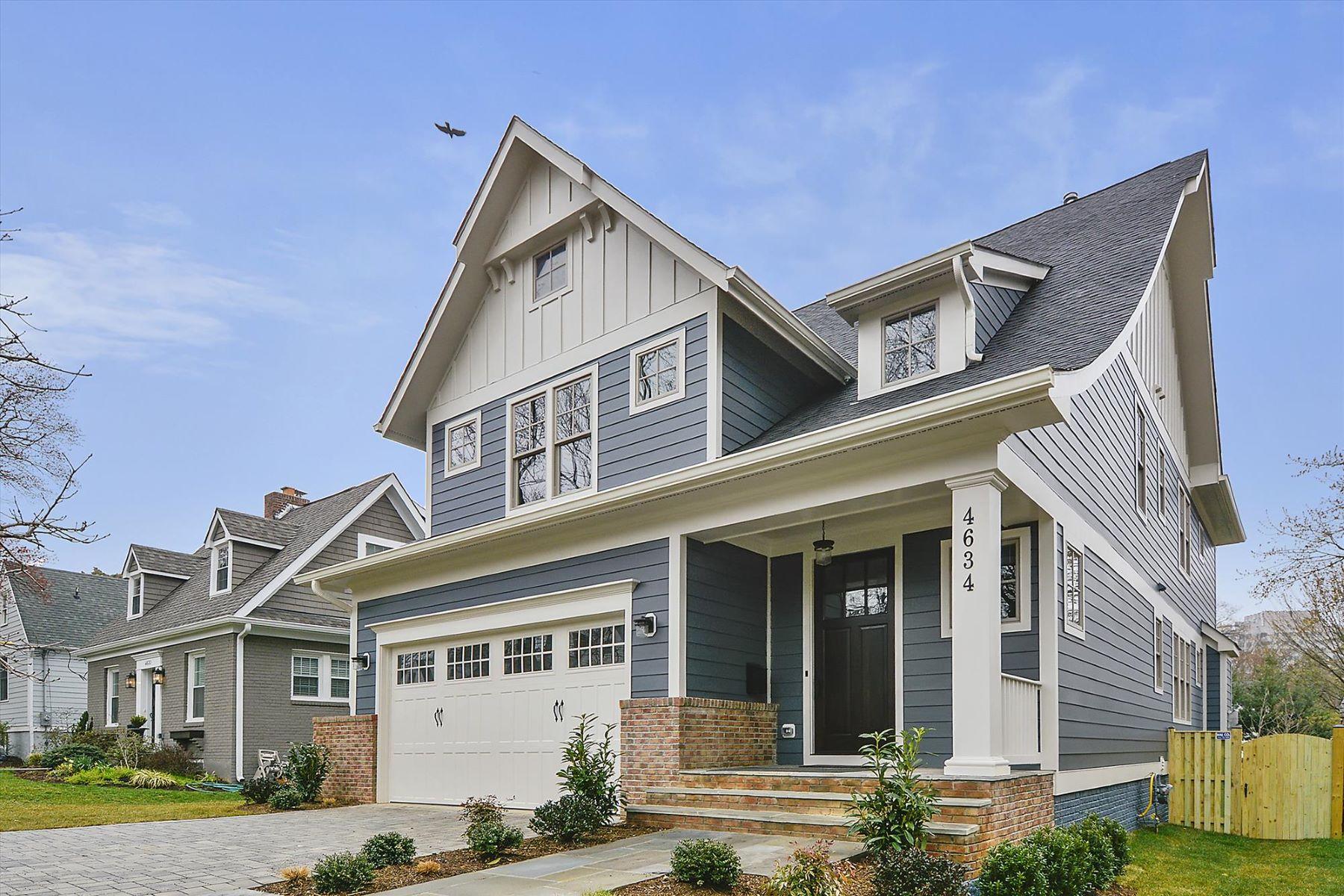 Single Family Homes для того Продажа на Stunning Home By Springstreet Development 4634 14th St N Arlington, Виргиния 22207 Соединенные Штаты
