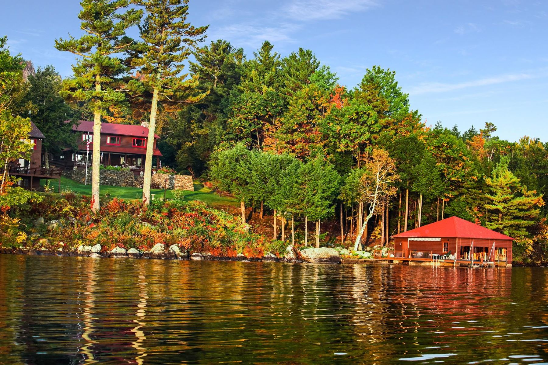 Single Family Home for Sale at Lake Sunapee Compound 158 Garnet Hill Rd Sunapee, New Hampshire 03782 United States
