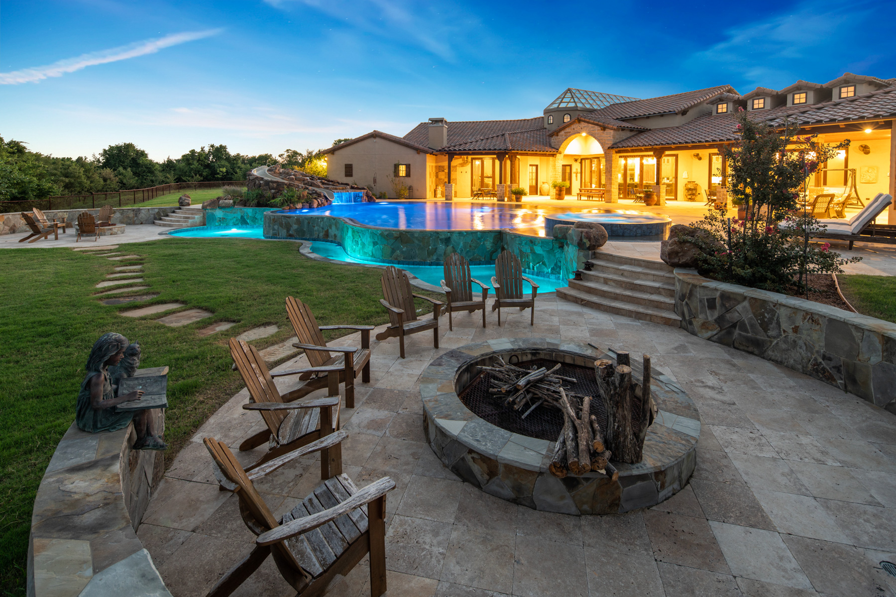 Single Family Homes for Sale at Mediterranean Masterpiece 8303 County Road 167 McKinney, Texas 75071 United States