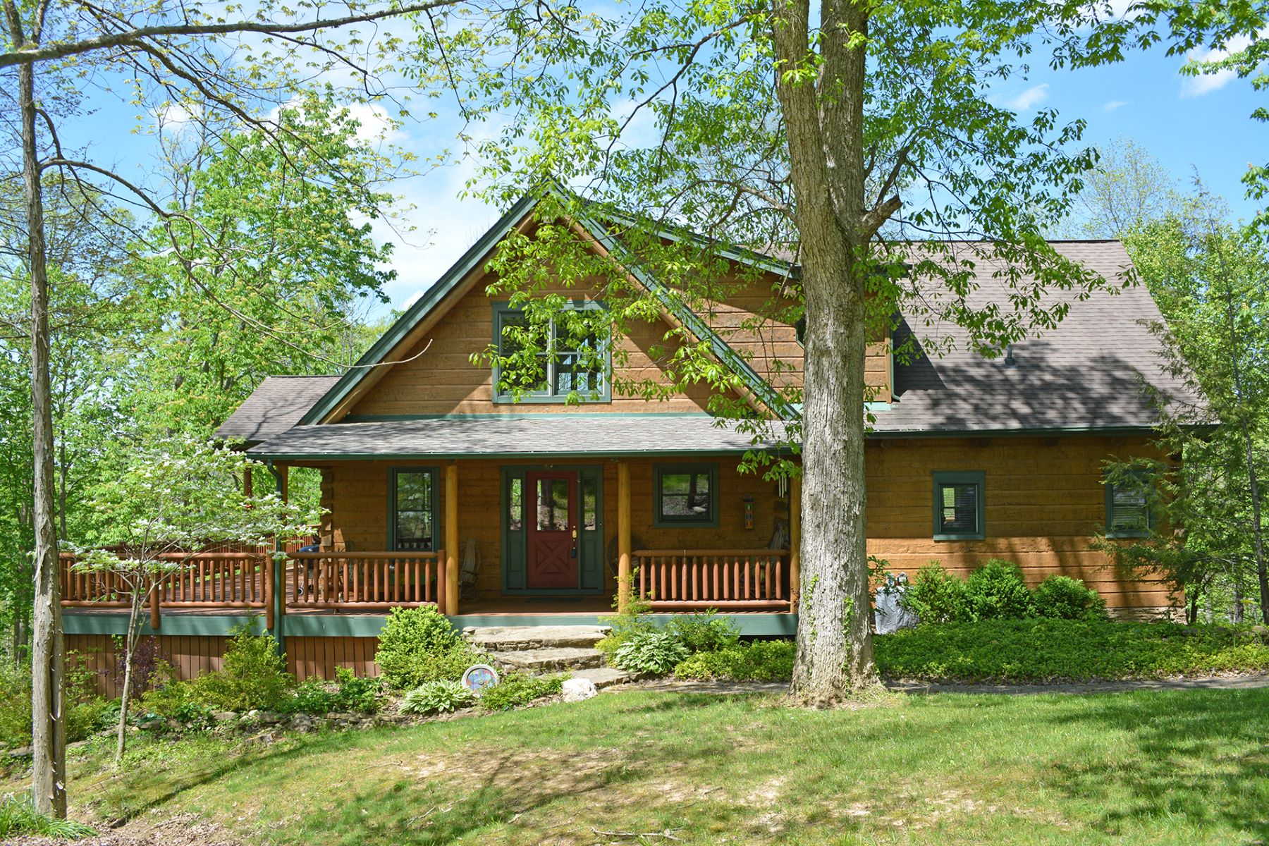 Single Family Home for Sale at Energy Efficient Log Home With Amazing Seasonal Views of the Ohio River 1438 South Altman Drive New Richmond, Ohio 45157 United States