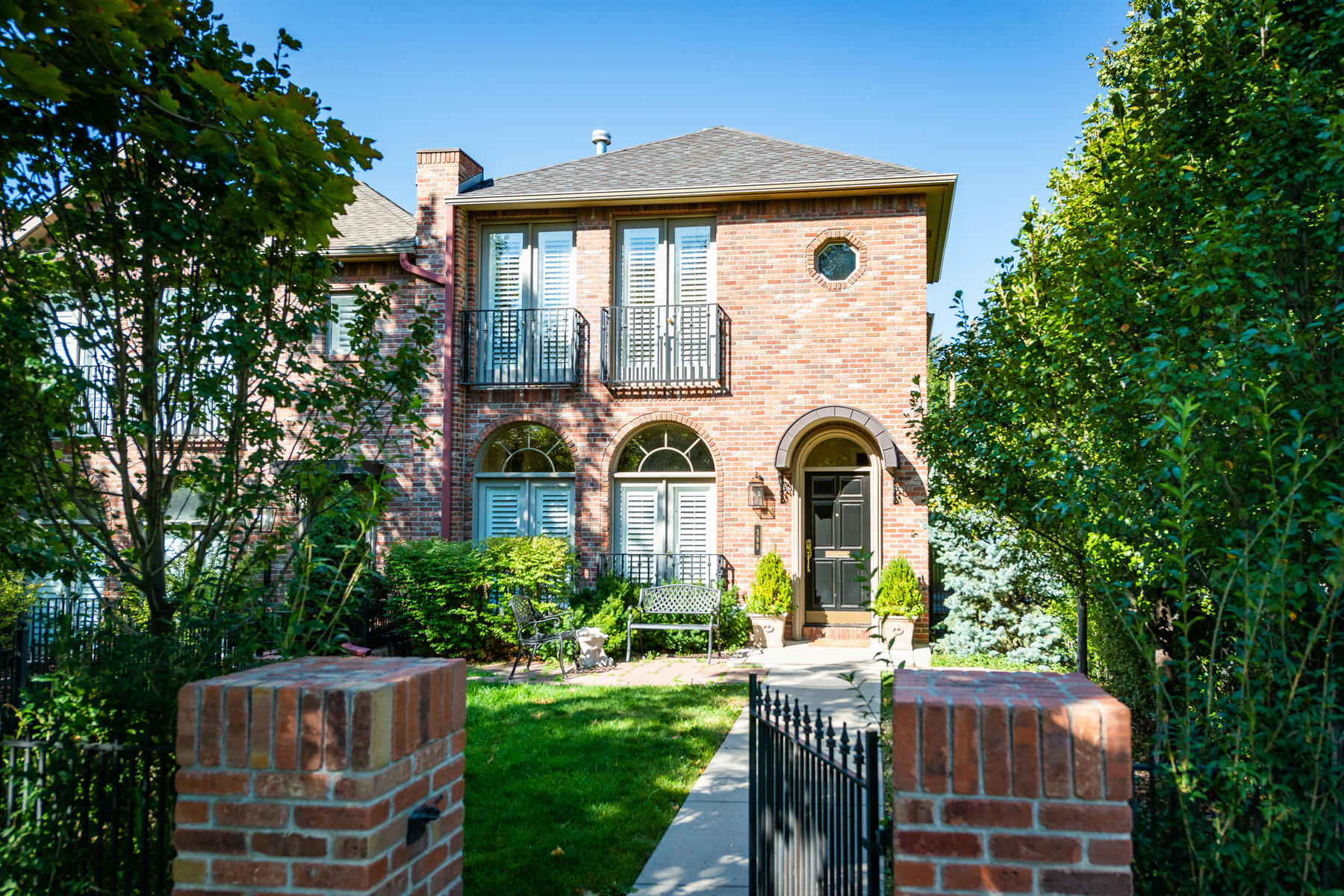 Townhouse for Active at Gracious Brick Townhome On A Quiet And Serene Corner 399 Madison St Denver, Colorado 80206 United States