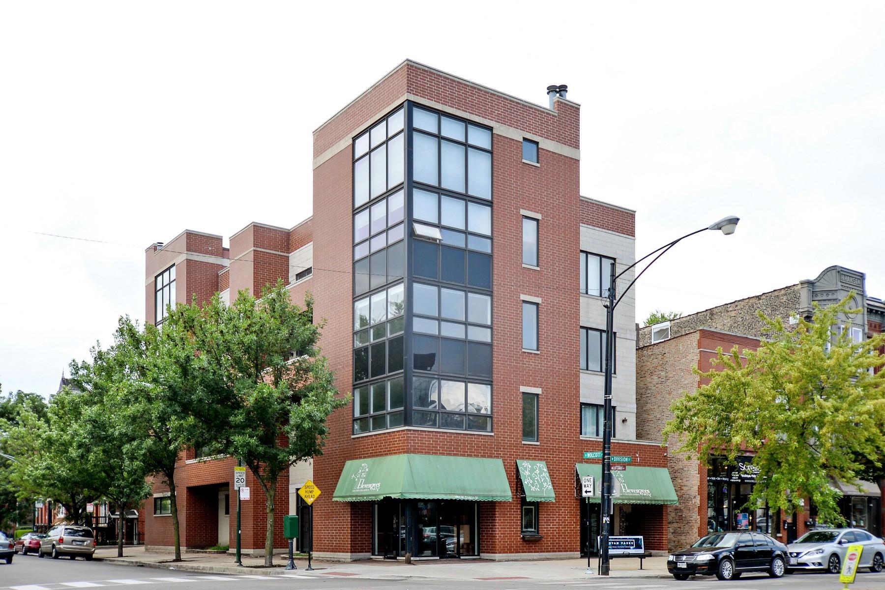 共管物業 為 出售 在 Fabulous Corner Unit 1901 W Division Street Unit 3N Chicago, 伊利諾斯州, 60622 美國