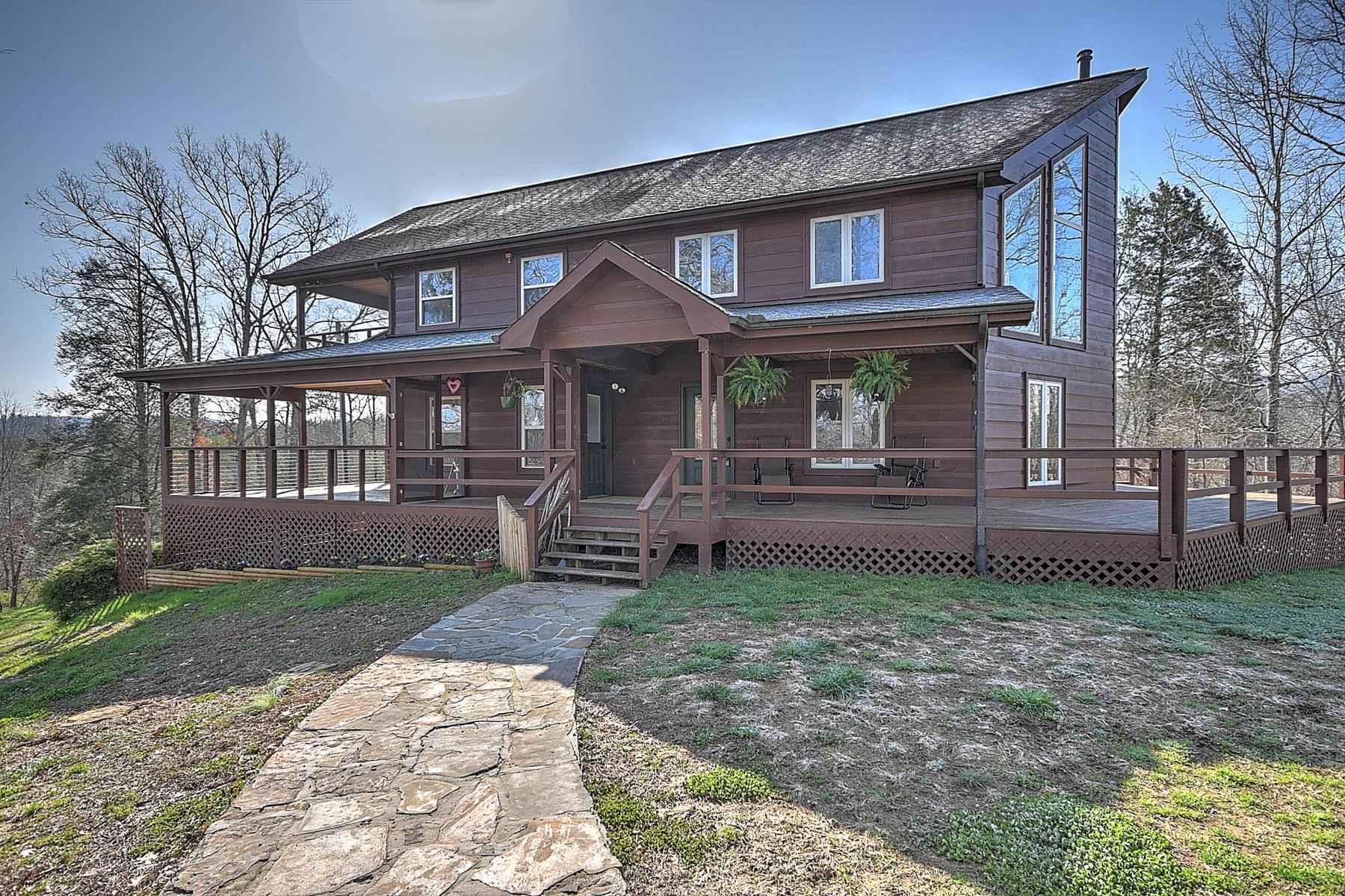 단독 가정 주택 용 매매 에 Custom Riverfront Contemporary 3300 Ballplay Road, Madisonville, 테네시, 37354 미국