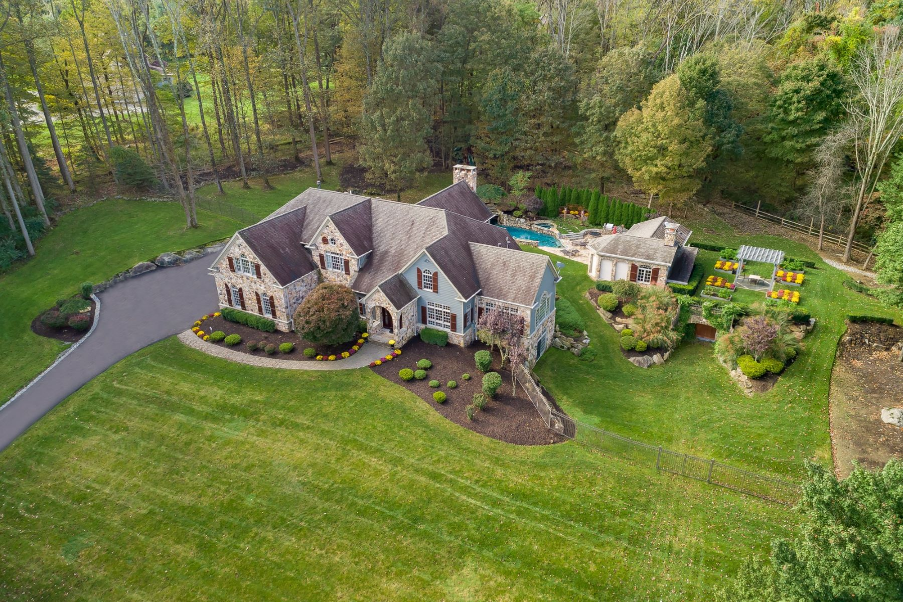 Single Family Homes for Sale at Entertainers Dream Home 11 Old Mine Road Tewksbury Township, New Jersey 07830 United States