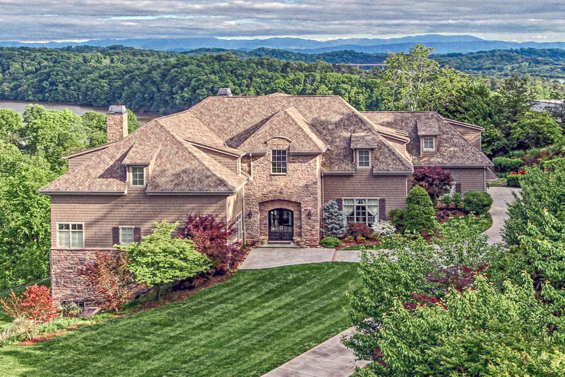 Single Family Homes pour l Vente à Stunningly Elegant Estate 1928 Rudder Lane, Knoxville, Tennessee 37919 États-Unis