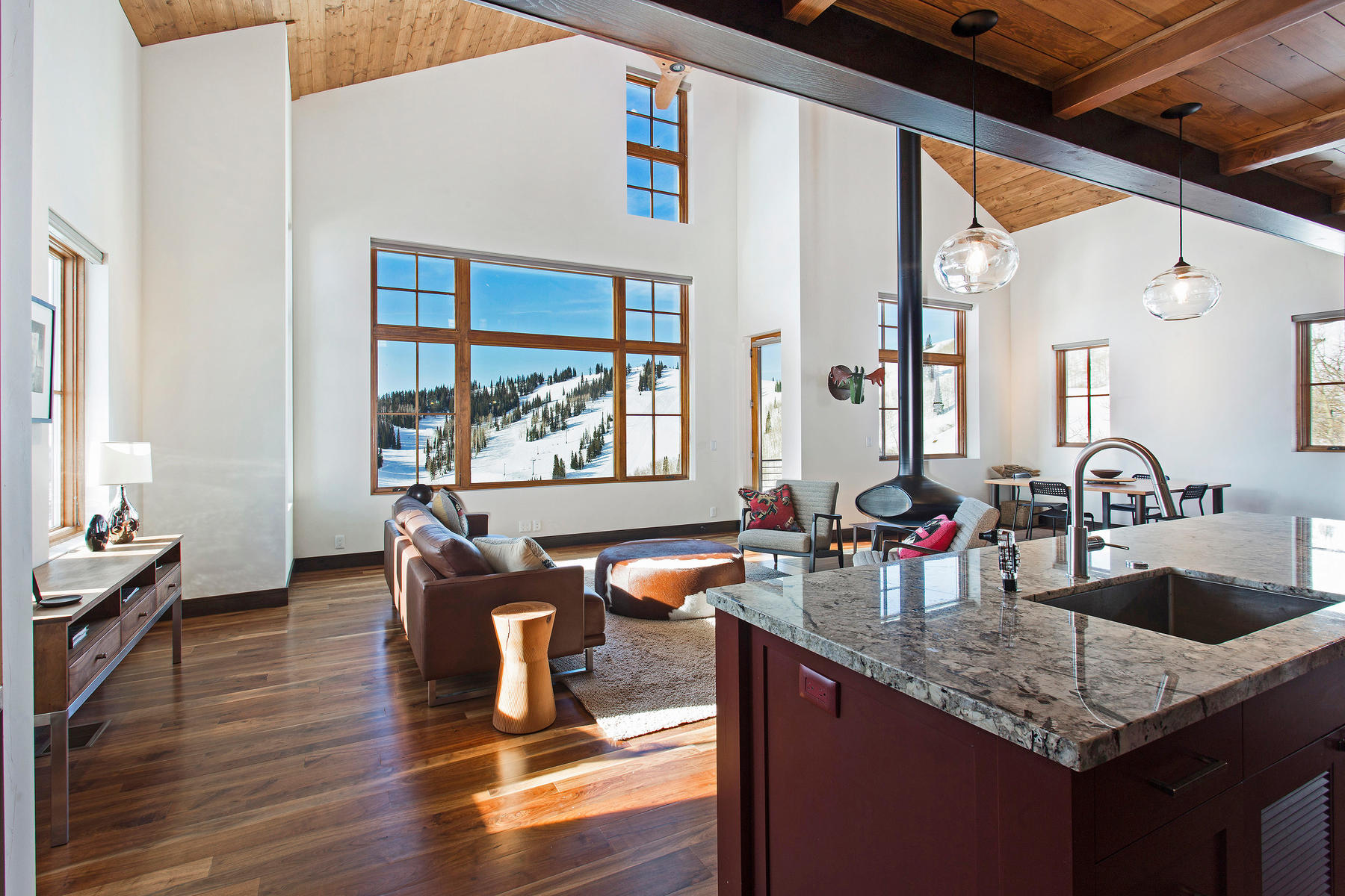 Single Family Home for Sale at Powder Mountain Ski-In-Ski-Out Contemporary Masterpiece 6762 East 6675 North Eden, Utah 84310 United States