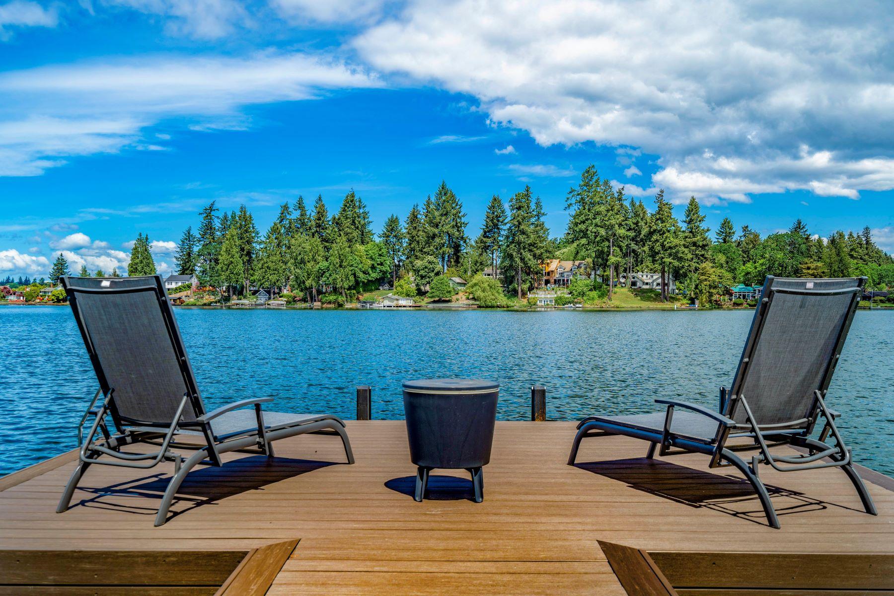 Single Family Homes for Sale at Unique Lake Steilacoom Waterfront 15 Lagoon Lane SW, Lakewood, Washington 98498 United States