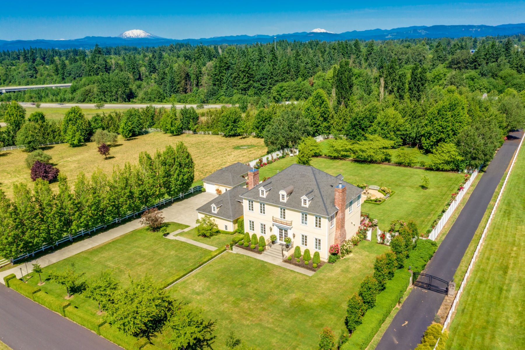 Single Family Homes for Sale at Exquisite Georgian Estate on 5 Acre 21501 NW 5TH AVE Ridgefield, Washington 98642 United States