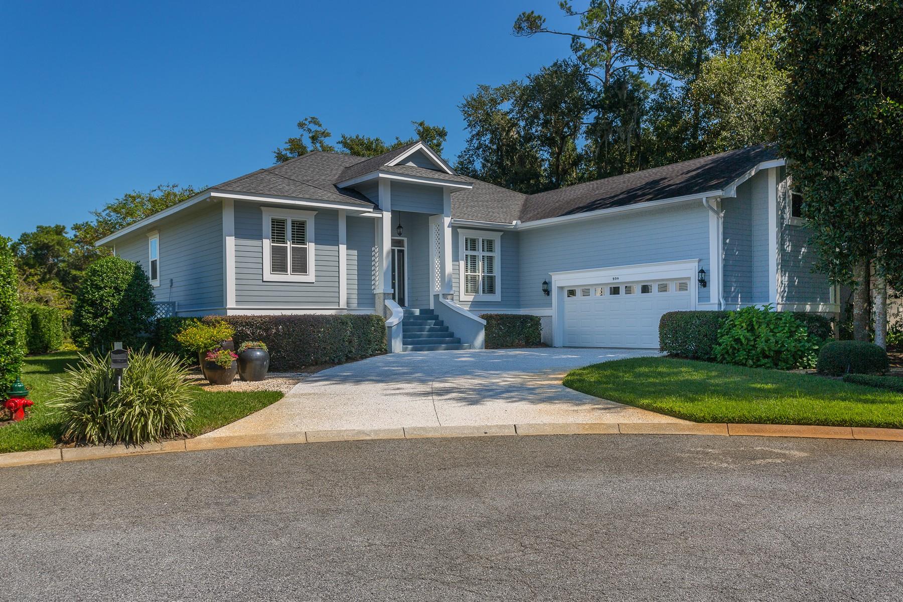 Single Family Homes por un Venta en 204 Enclave Way East St. Simons Island, Georgia 31522 Estados Unidos