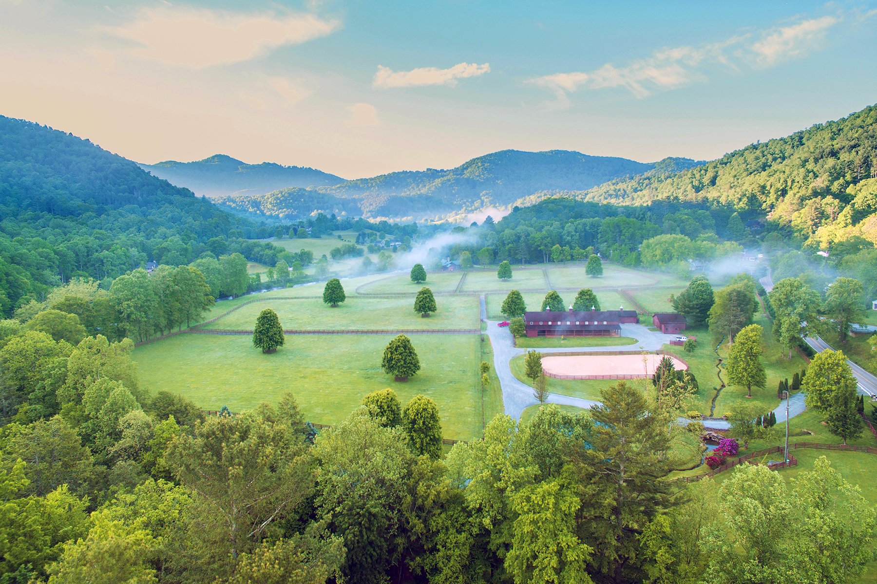 Farm / Ranch / Plantation for Sale at RIVER RUN FARM - VALLE CRUCIS 2128-2130 Broadstone Road Banner Elk, North Carolina 28604 United States