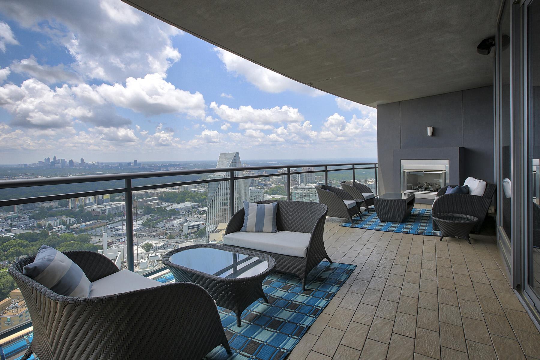 콘도미니엄 용 매매 에 Architecturally Significant Sovereign Buckhead 3344 Peachtree Road NE #4004 Atlanta, 조지아 30326 미국
