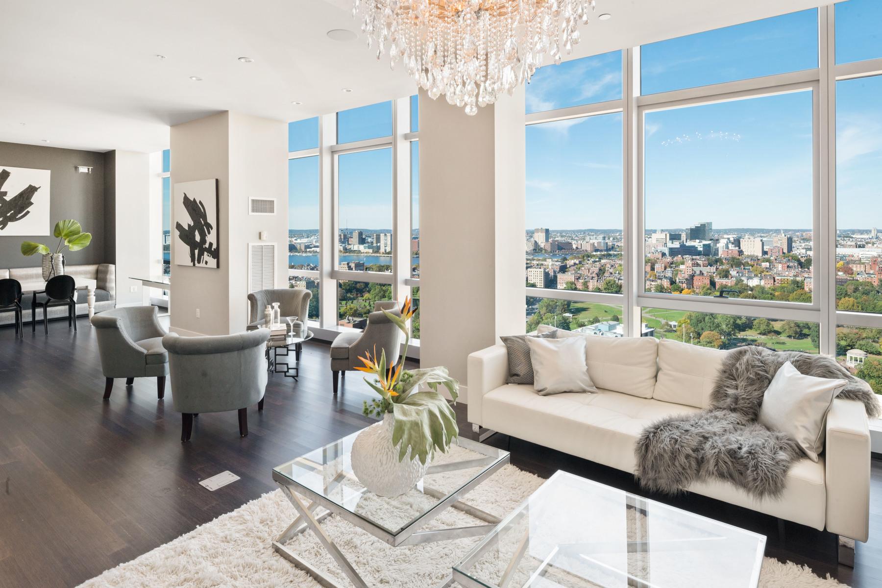 Condominiums 为 销售 在 Ultimate Boston Penthouse Condominium 110 Stuart Street Unit PH3, 波士顿, 马萨诸塞州 02116 美国