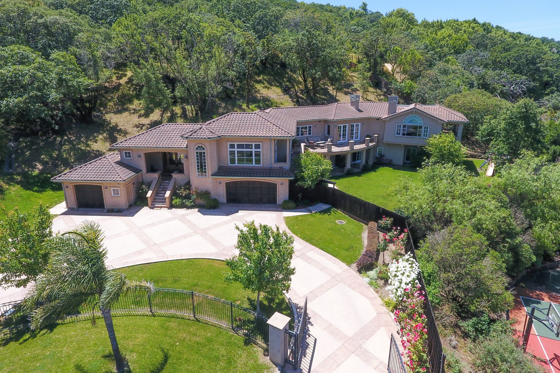 Single Family Home for Sale at Private Gated Mediterranean Novato Estate 106 Kristin Marie Court Novato, California 94945 United States