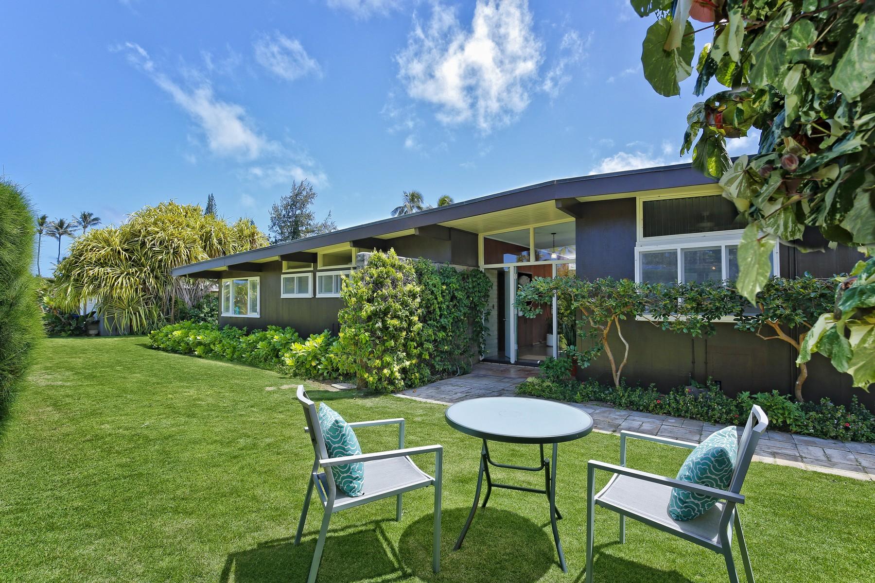 獨棟家庭住宅 為 出售 在 Beautiful Beachside Home 65 Kaiholu Pl Kailua, 夏威夷, 96734 美國