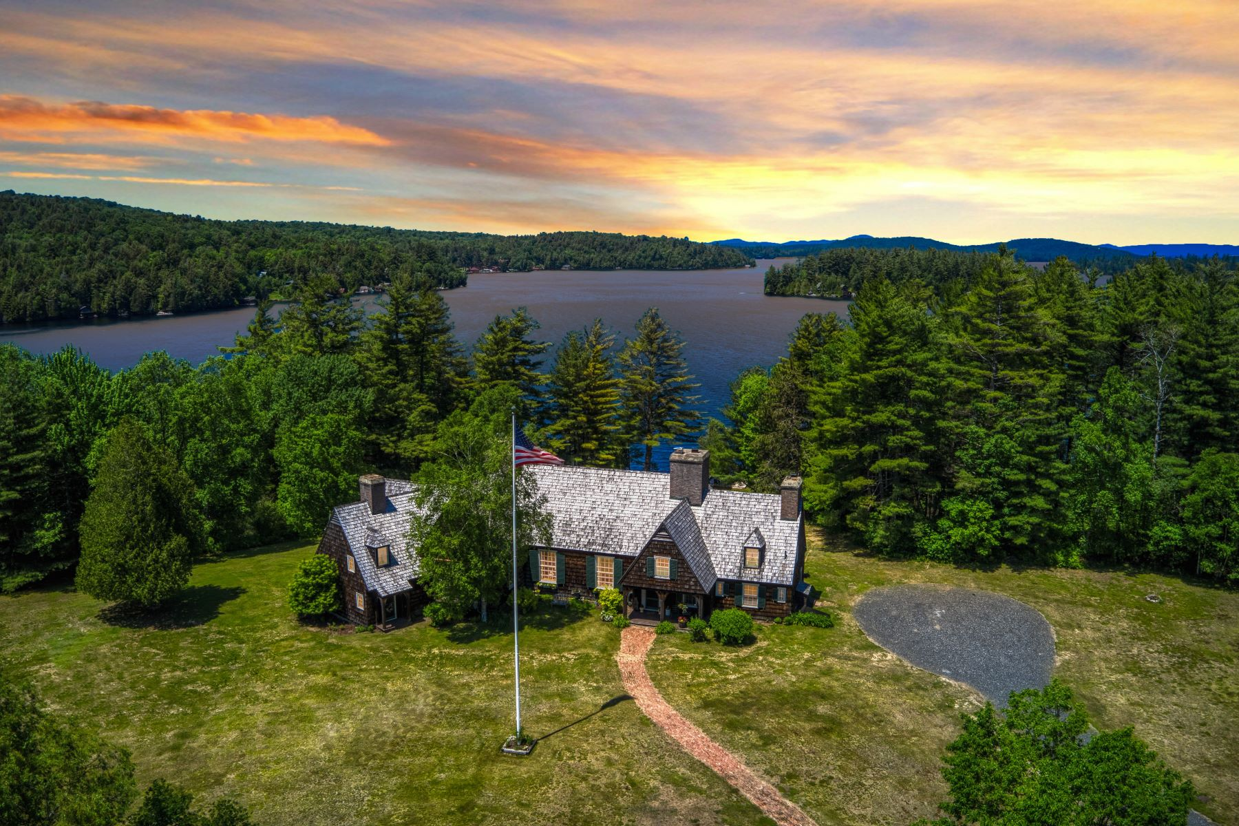 Single Family Homes for Sale at Camp Swenson on Saranac Lake 650 Indian Carry Tupper Lake, New York 12986 United States